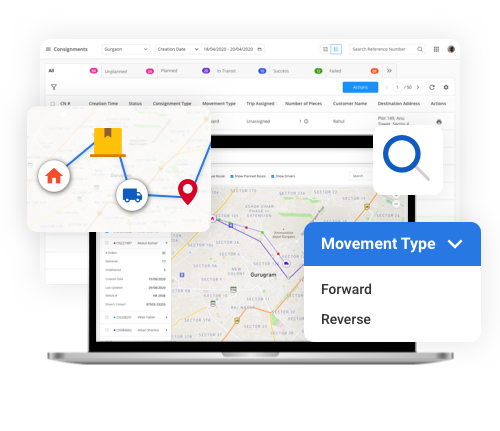 Last mile delivery software solution for real time tracking