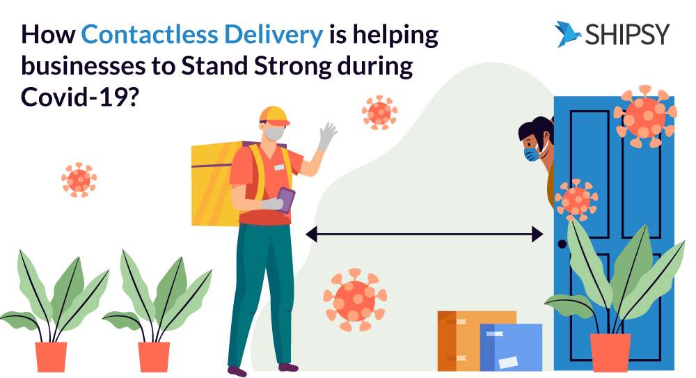 contactless delivery software for B2B business system